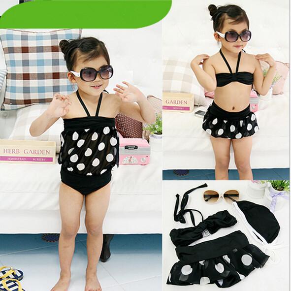 Acquista all 39 ingrosso online bambini bikini nero da - Costume da bagno bambino ...