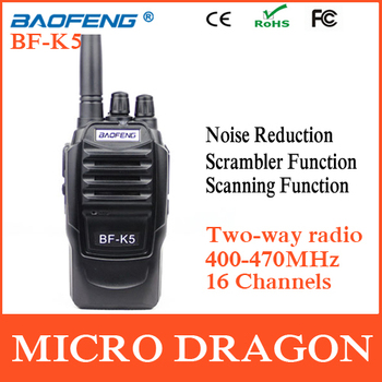 Original BaoFeng BF-K5 Professional Transceiver 16 Channels Two Way Radio Walkie Talkie Transmitter cb Radio Station Without Box