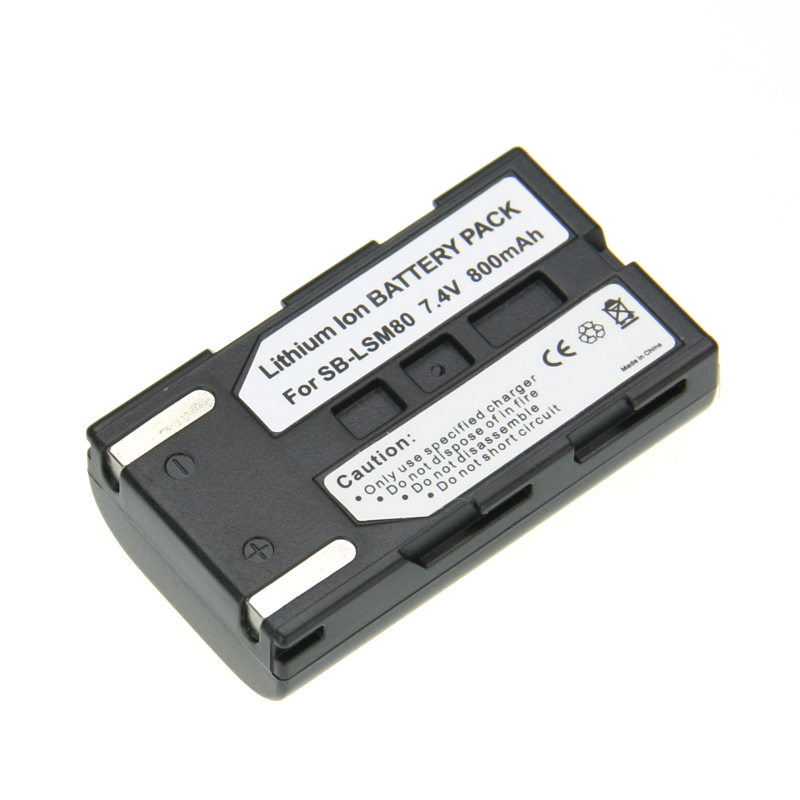 Hot Sale 1pcs Battery SB-LSM80 SB LSM80 SBLSM80 Rechargeable Camera Battery SAMSUNG VP-DC175 VP-DC565 VP-DC575 SC-D357