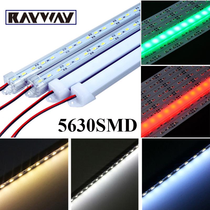 10pcs cuttable 50CM DC12V 36 SMD 5630 LED Rigid Strip cabinet Showcase LED Bar Light red/green/blue/white/warmwhite for choice(China (Mainland))