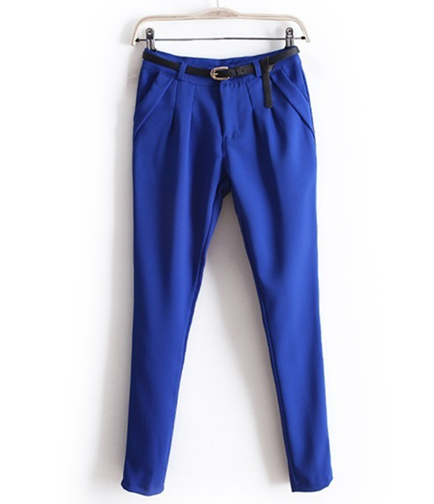 Wholesale /Retail Summer 2015 Women's pants plus size Fashion Casual Candy colors harem Pants Sport Trousers for women with belt(China (Mainland))