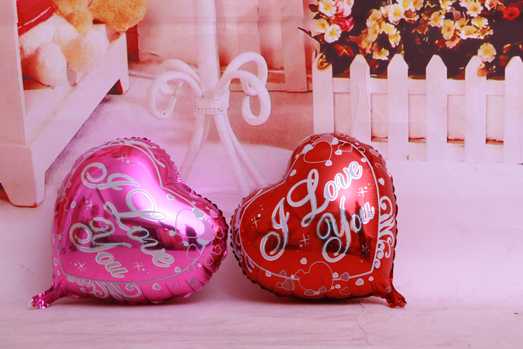 2Pcs/Lot Balloons air Cartoon I Love You Heart Birthday wedding party Supplies kids toy gift decoration foil helium New Hot Sele(China (Mainland))