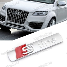 NEW Sline S Line Front Grille Grill Car Sticker Emblems Badge Audi SUV Q3 Q5/SQ5 Q7 - FullStar Store store