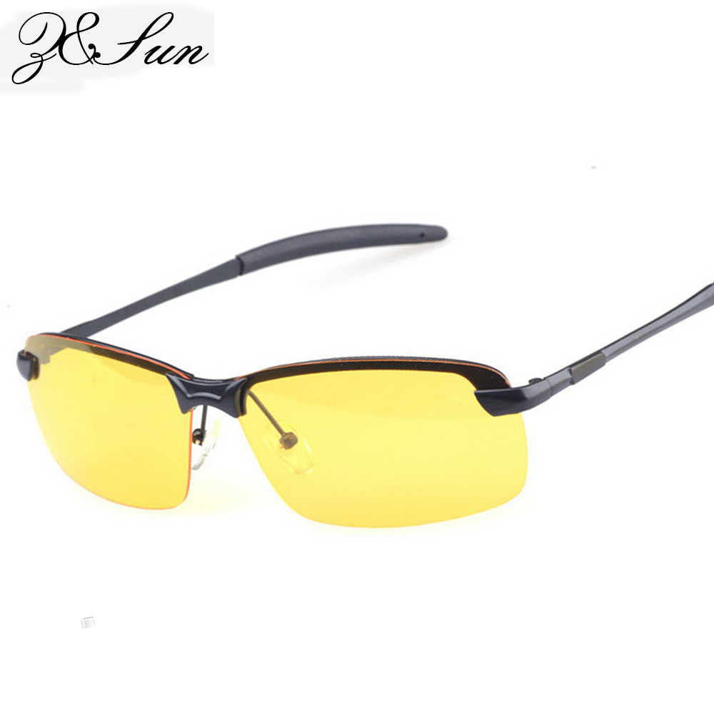 HD polarized Lenses Sunglasses Night Vision Goggles points Men women Driving sun Glasses UV Protection alloy Free shipping(China (Mainland))