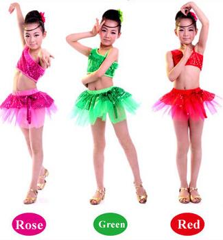 Пушистый марля балетное платье для девушки детей латинский танец юбка латинский танец одежда для девочек танцы блесток платье пачка на браслеты