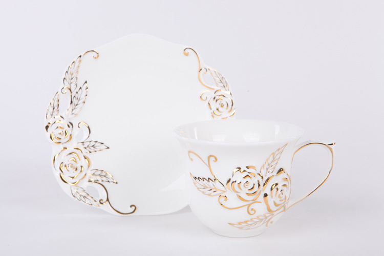Free shipping European English style bone china ceramic coffee cup set hot sale