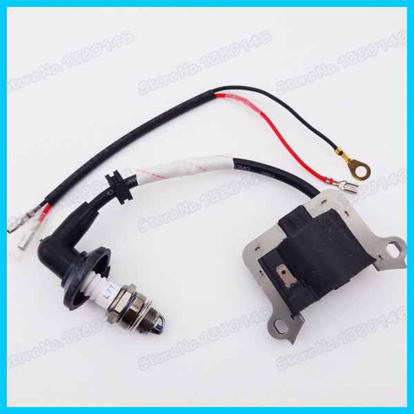 Ignition Coil & 3 L7T Electrode Spark Plug For 33cc 43cc 49cc Scooter Super Mini Pocket Dirt Bike Go Kart Moto Scooter(China (Mainland))