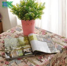 2016 Summer new Cotton and linen Large Tablecloth Romantic Euro Style Washable Kitchen floral design placemat , freee shipping(China (Mainland))