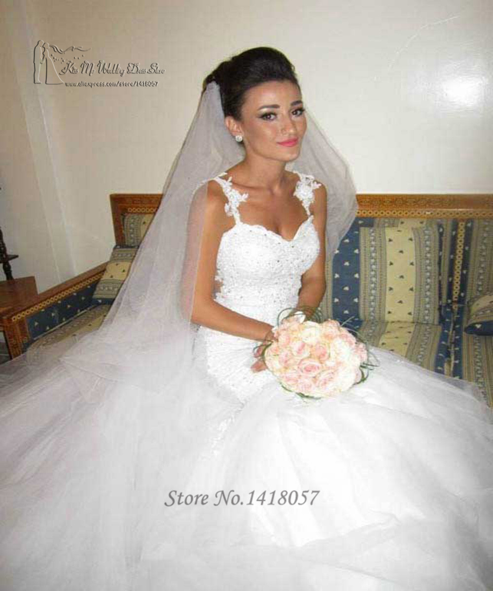 Buy vestido de noiva sereia 2016 for Lace wedding dress with straps