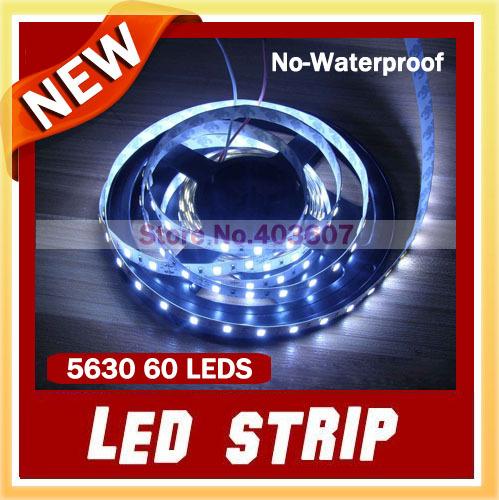 Здесь можно купить  20m/lot 5630 White Flexible Led Strip Non-Waterproof  SMD 5M 300 LEDs Light Free Shipping  Свет и освещение