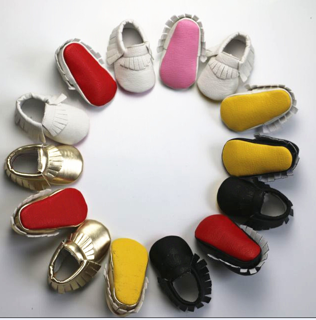 New Red sole PU Leather Newborn Baby Boy Girl Baby Moccasins Soft Moccs Shoes Bebe Fringe Soft Soled Non-slip Footwear Crib Shoe(China (Mainland))