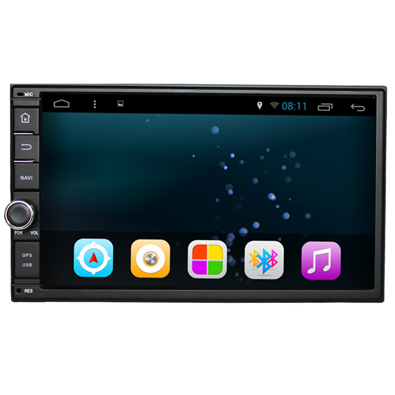 Quad Core Pure Android 1024*600 Resolution Car DVD 2 Din Universal Car DVD Player Double Din Stereo GPS Navigation Car Radio(China (Mainland))