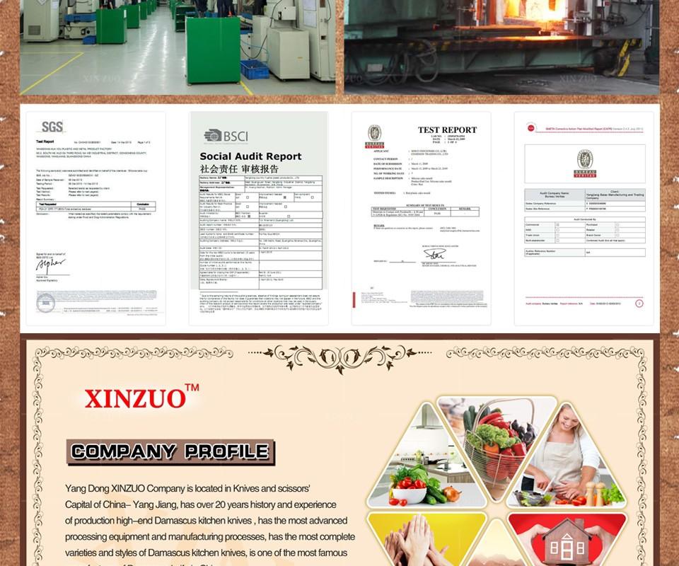 Buy XINZUO 2 pcs kitchen knife set Japanese VG10 Damascus kitchen knife set chef utility knife hammer striae forging free shipping cheap