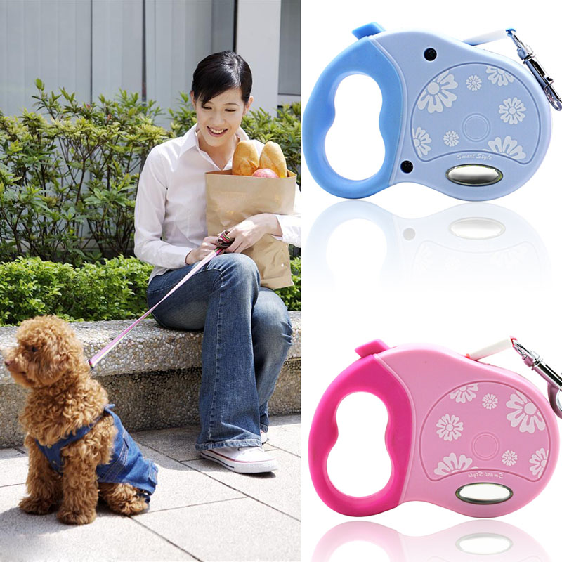 Brand High Quality 3M Automatic Small Pet Dog/Cat Puppy Cat Retractable Traction Rope Walking Lead Leas Free Shipping(China (Mainland))