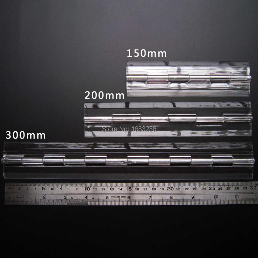 2x Clear Transparent Acrylic Plastic Hinge Box Piano Plexiglass Hinge(China (Mainland))