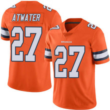 Men's #27 Steve Atwater Elite Orange Rush Football Jersey %100 Stitched(China (Mainland))