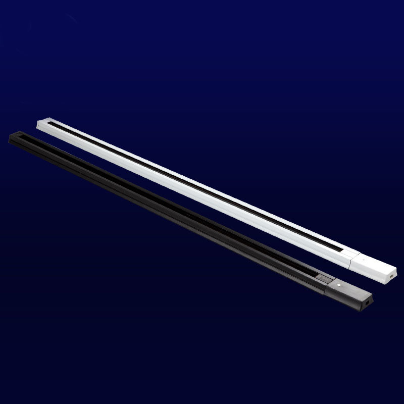 Free Shipping LED Track Line 1 Meter two-wire Track Lights rail White and Black Spotlight Line Lamp Slide Rail with Connector <br><br>Aliexpress
