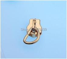 #5 metal zipper head + 1/4 inch D ring 200sets/lot apparel bags/wallets DIY accessories hardware zipper sliders zips ends()