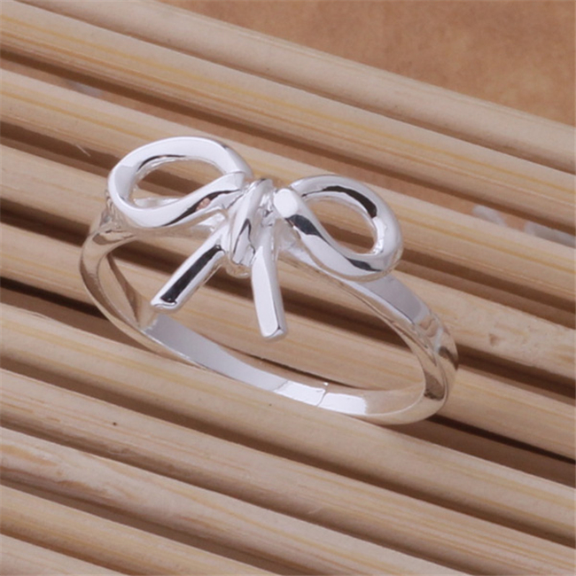 JZ-AR442 Hot 925 sterling silver ring,Wholesale sivler fashion jewelry, bow tie Ring /bimajzta(China (Mainland))