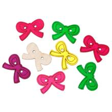 Wood Sewing Button Scrapbooking Bowknot At Random 2 Holes 30.0mm(1 1/8″)x 21.0mm( 7/8″),5 PCs 2016 new