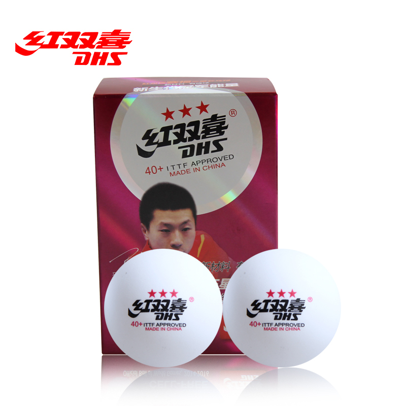 DHS New Material CELL FREE 40+ Seamed 3 Star Table Tennis Balls Professional White Ping Pong Balls ITTF Approved Tenis De Mesa(Hong Kong)