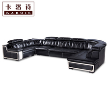 Whole sale big lots of sofa set in leather living room furniture corner lounge chair for home use(China (Mainland))