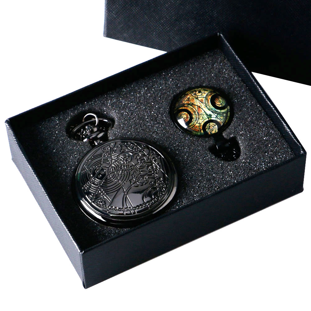 Uk movie Doctor Who Pocket Watch men quartz fashion Necklace Dr Who Seal pendant With Luxury Gift Box Set !!! Free Shipping(China (Mainland))