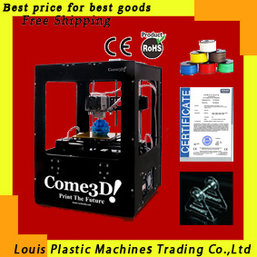 Free shipping black acrylic 3D Printer single extruder + 1kg ABS+ filament stand MakerBot Replicator ABS extrusion machine