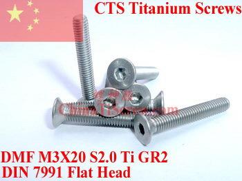 Titanium screw M3X20 DIN 7991<br><br>Aliexpress