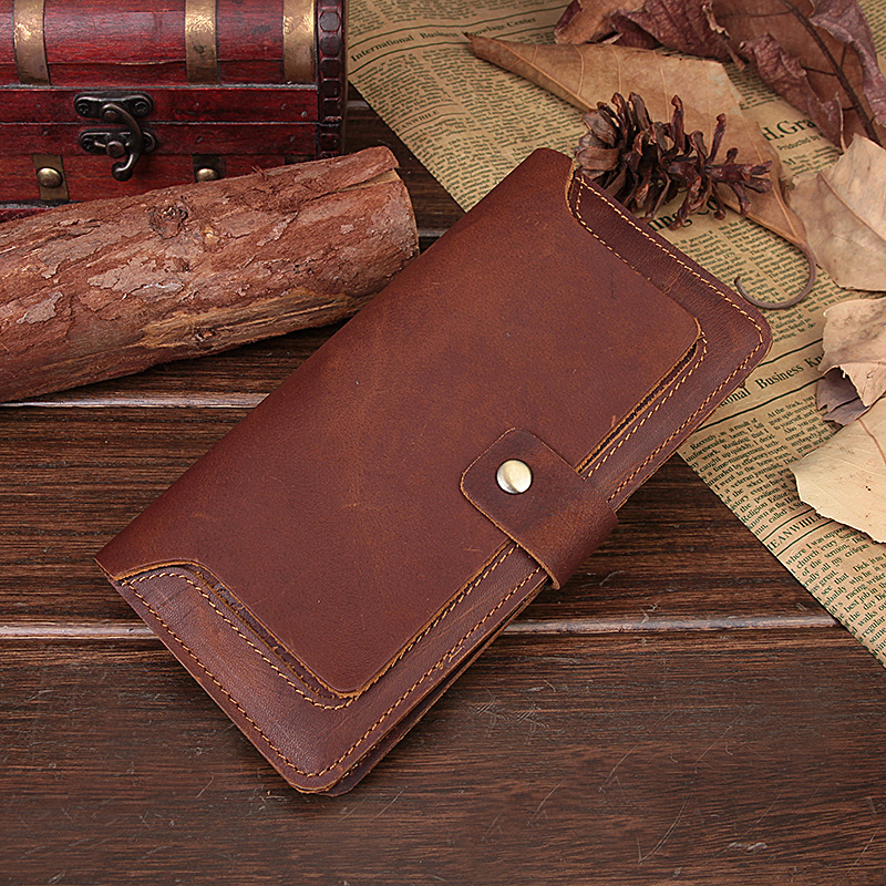 Free Shipping Vintage Style Men's Bifold soft Genuine Leather Billfold Wallet Card Holder Purse ID Credit Card Holder,5302(China (Mainland))