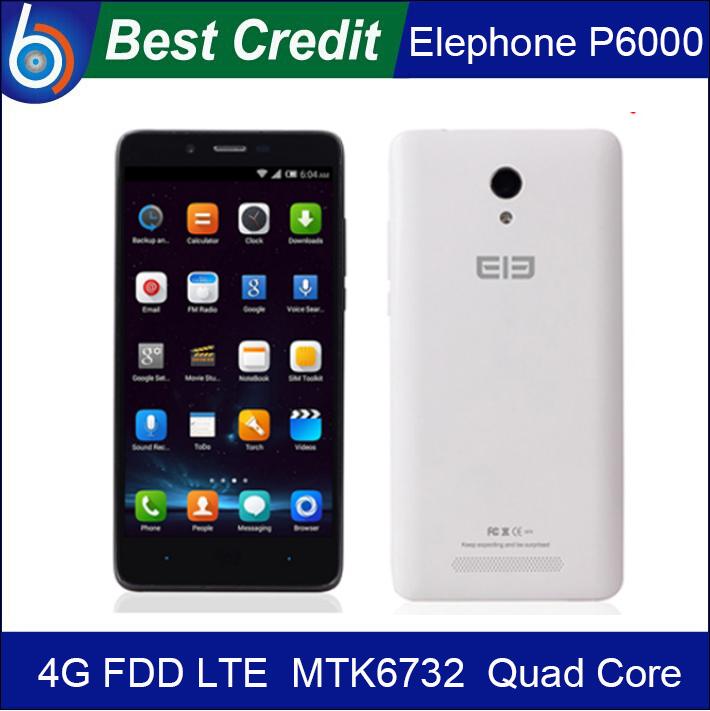 "2014 New Original Elephone P6000 4G FDD LTE Moblie phone 5.0"" 1280x720 MTK6732 64bit Quad Core 2GB RAM 16GB ROM 13.0MP/Kate(China (Mainland))"