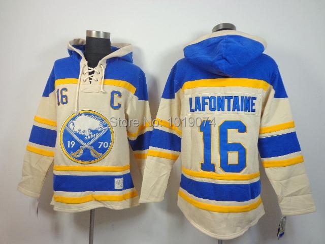 Free shipping Buffalo Sabres Men #16 Pat Lafontaine hockey jersey /hockey hoodie, stitched jersey hoodie/ sweatshirt
