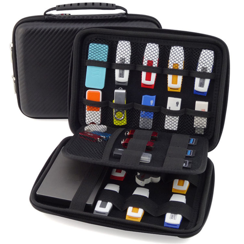 GUANHE Large Capacity Digital Electronic Travel Storage Bag For USB Flash Drive, Earphone, Health USB Key, Phone SB085(China (Mainland))