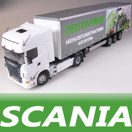 Uh engineering machinery car model of scania r580 krone deutz trailer stacking container(China (Mainland))