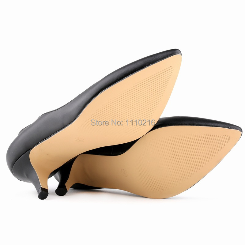 2015 hot sale PU leather thin low heels shoes pumps ladies fashion pointed toe star style pump women's office working shoes