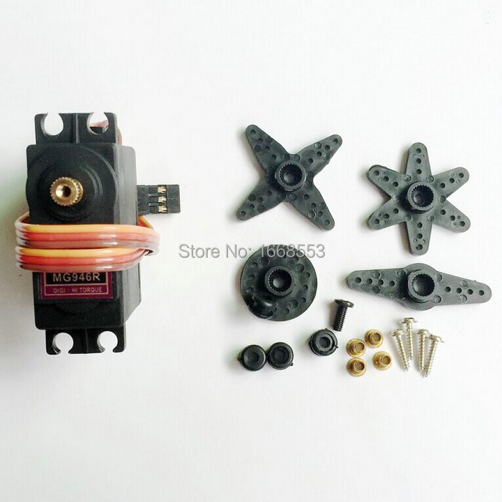 RC Servos MG946R Digital Metal Gear RC Servo For RC Model Helicopter Car Boat 10pcs/lot free shipping(China (Mainland))