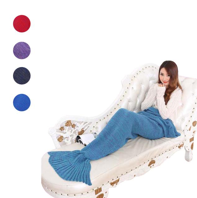 Пряжи трикотажные Русалка Хвост одеяло ручной работы крючком русалка одеяло взрослых ...