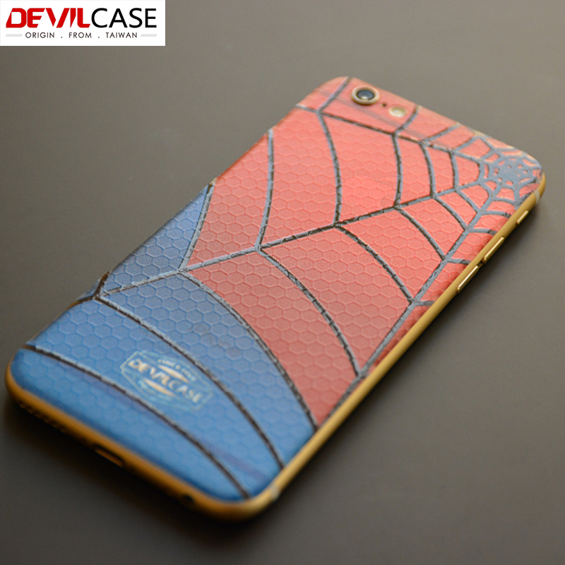DEVILCAS Back Leather Sticker For iPhone 6 Plus 3D Armor Spiderman Army Camouflage Decal Paster For iPhone 6s Plus Original(China (Mainland))