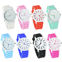 LACKINGONE#2015 new fashion Classic Geneva watches women Silicone quartz Watch Jelly women dress watch