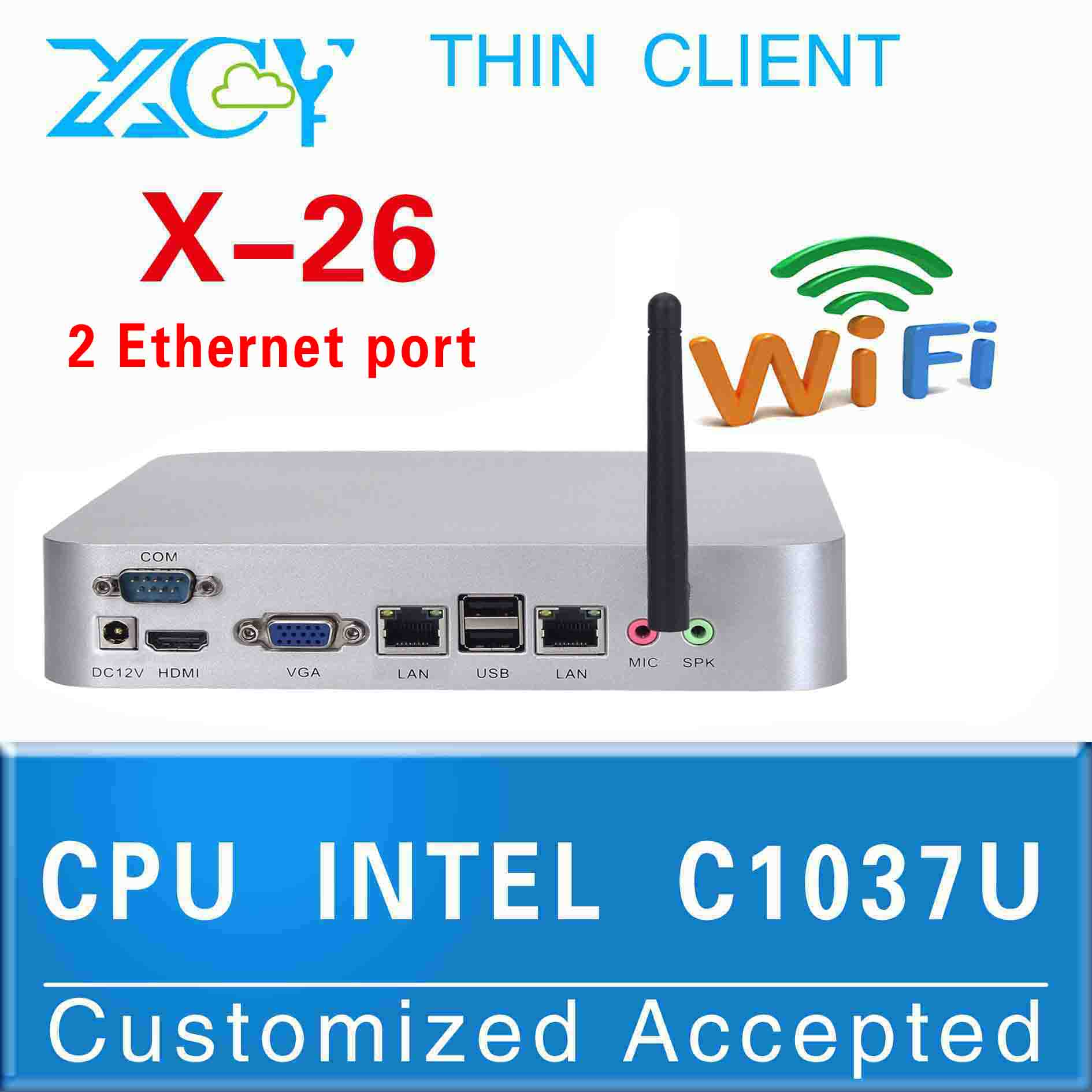 all in one pc Celeron computer thin client x26 c1037u support WIN7, Linux, Windows XP, Windows 2003, Ubuntu Debian(China (Mainland))