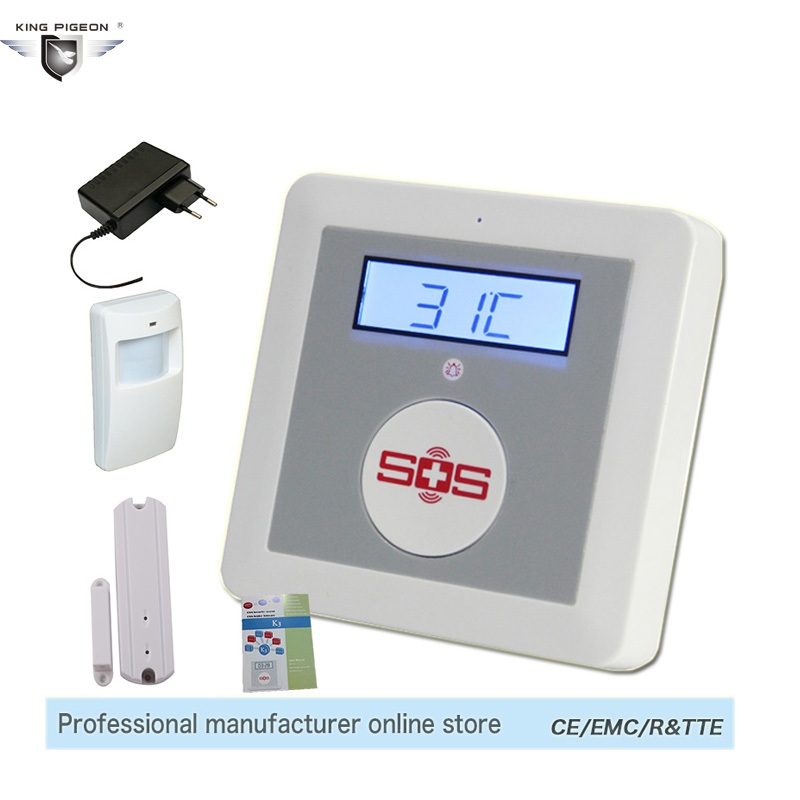 GSM Home Alarm System Wireless Home Security System GSM LCD House Safety Security Alarm Solution K3C Door Sensor Motion Detector(China (Mainland))