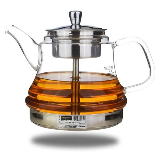 free shipping Induction cooker special pot boil tea dedicated cooker glass pot stainless steel liner kettle Steam tea pot(China (Mainland))