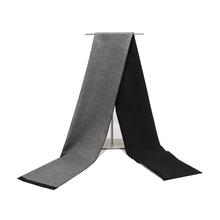 Cachemir de alta calidad sólido gris negro marino hombres boutique cuadros rayas bufandas patchwork color 30 cm 180 venta al por mayor al por menor(China)
