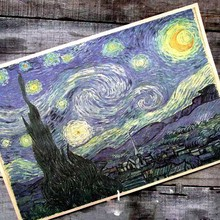 Van gogh series oil painting starry night cafe Retro posters 42 * 30 cm poster decoration bar(China (Mainland))