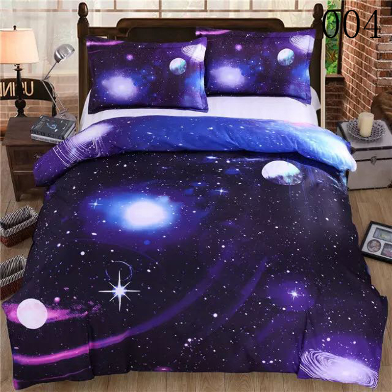 3D Galaxy Polyester 3/4Pcs Bedding Set Dust Ruffle Bedclothes Sets Comforter Cover Duvet Cover Quilt Cover Flat Sheet Pillowcase(China (Mainland))