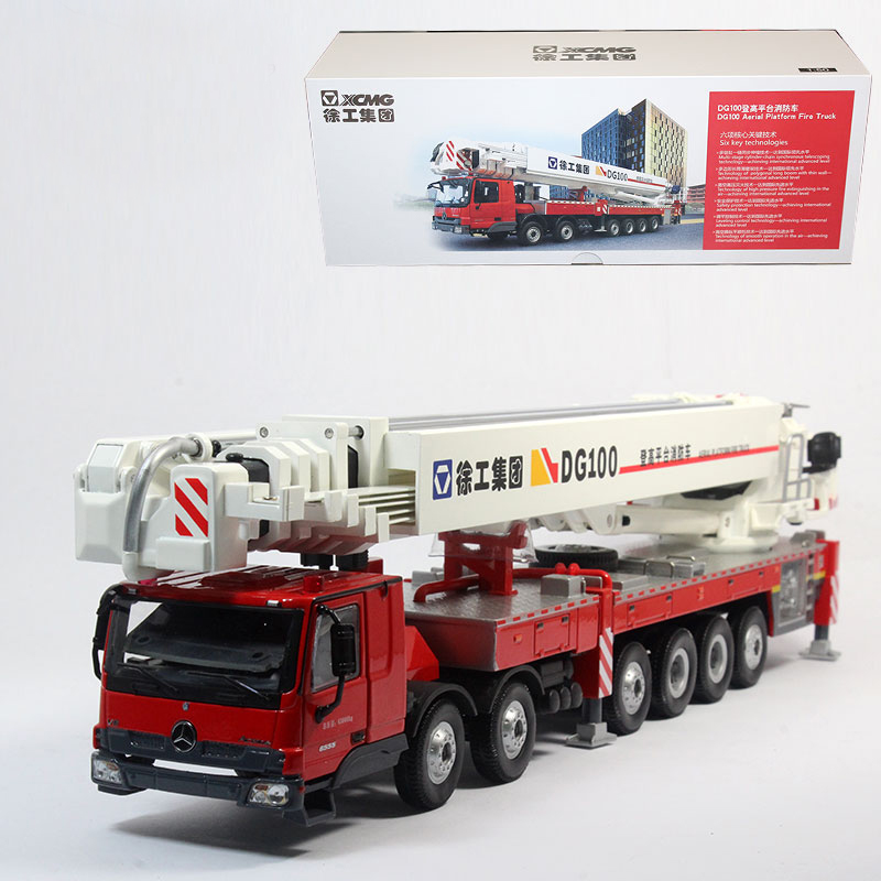 The original 1:50 fire truck XCMG XCMG DG100 aerial platform fire truck Benz Truck Model(China (Mainland))