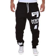 Heflashor homem carta impressão sweatpants joggers masculino calca masculina hip pop calças casuais calças de pista mais roupas tamanho 2018(China)