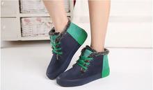 2014 otoño invierno del tobillo botas de invierno de las mujeres zapatos lindos zapatos calientes de las mujeres de moda talón plano ocasional botas de nieve de las mujeres botas(China (Mainland))