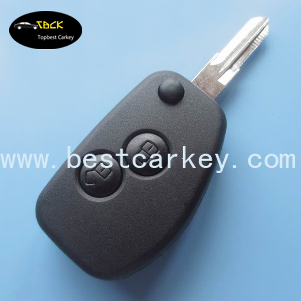 Topbesr for Renault 2 button flip modified key case / renault key case without logo(China (Mainland))