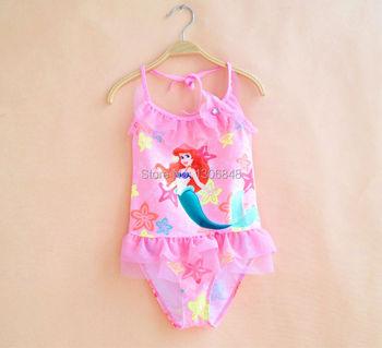 Newest Kids girl Swimwear ariel swimsuit child cartoon beach sets baby Mermaid swimwear